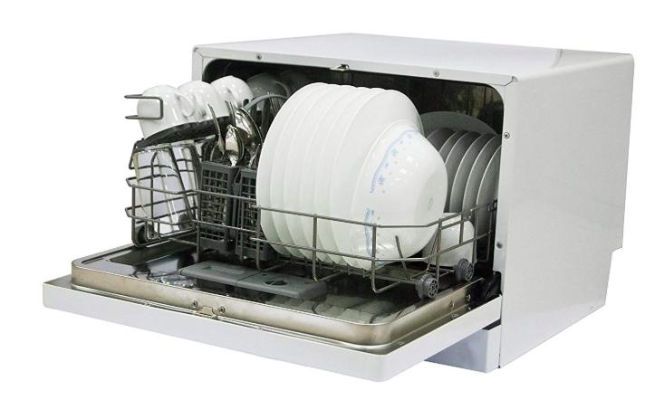 Magic Chef MCSCD6W3 6 Place Setting Countertop Dishwasher, White