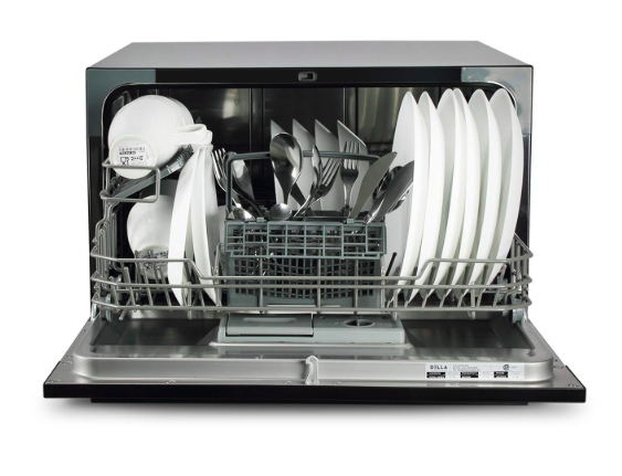 DELLA Portable Compact Countertop Dishwashe