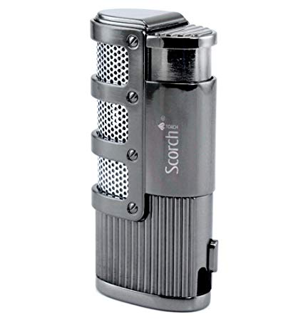 Scorch Torch Skyline Triple Jet Flame Butane Torch Cigarette Cigar Lighter w:Punch Cutter Tool